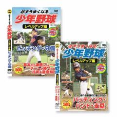 必ずうまくなる 少年野球 2枚組 レベルアップ編 ピッチング 守備 バッティング バント 走塁 【2DVD】 CCP-8009-8010-SET-CM