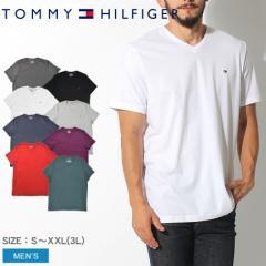 トミーヒルフィガー Tシャツ メンズ 半袖 ベーシック コットン コア フラッグ カットソー カジュアル シンプル TOMMY