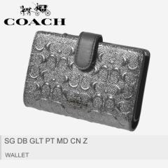 84db03b7bd6d コーチ 財布 レディース SG DB GLT PT MD CN Z F39172 QBCHR コンパクト COACH 折りたたみ 二