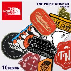 【メール便可】ザ ノースフェイス シール TNF プリント ステッカー ブラック 黒 ホワイト 白 THE NORTH FACE NN32121 おしゃれ ロゴ ラッ