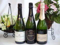 世界のスパークリングワイン辛口3本セット ロジャーグラート カヴァ グラン キュヴェ 750ml  シャルル・アルマン750ml ハウメセラ