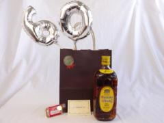 還暦シルバーバルーン60贈り物セット ウイスキー いつもの美味しさハイボールの定番 原酒 サントリー 角瓶 40゜700ml  メッセージカー