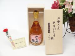 母の日 ギフトセット 梅酒セット お母さんありがとう木箱セット(常楽酒造 大宰府の梅 梅酒 500ml (熊本県)ギフト のし可