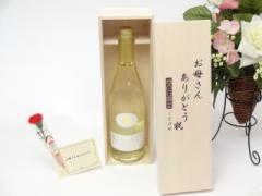 母の日 ギフトセット 梅酒セット お母さんありがとう木箱セット(紀の司 梅ワイン 720ml(和歌山県))母のギフト のし可