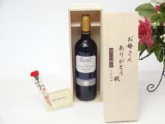 母の日 ギフトセット ワインセット お母さんありがとう木箱セット(金賞ワイン 赤ワイン 750ml)母の日カギフト のし可