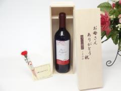母の日 ギフトセット ワインセット お母さんありがとう木箱セット(クレマスキ リゲロ・ロッソ 赤(チリ)750ml)ギフト のし可