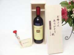 遅れてごめんね♪母の日 ギフトセット ワインセット お母さんありがとう木箱セット(ミケランジェロ 赤ワイン(イタリア)750ml)ギフト