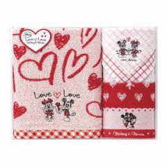贈り物セット  ディズニー ミッキー&ミニー ラブラブタイム タオルセット DS-2430