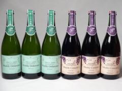 スパークリングワイン6本セット マディデラウェア(デラウェア)×3本 マディコンコード(コンコード)×3本  (山梨県) 750ml×6本