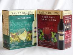チリ大容量飲み比べセット(サンタ・レジーナ カベルネ・ソーヴィニヨン 赤ワイン フルボディ3000ml  サンタ・レジーナ シャルドネ 白ワイ