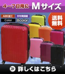 スーツケース キャリーケース 中型4〜6日用 Mサイズ【レビュー記載で送料無料】TSAロック 鏡面 8輪 キャリーバッグ
