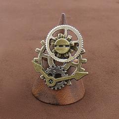 金古美/歯車パーツ&時計の針付きリング