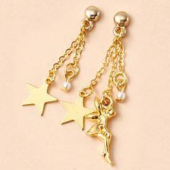金/妖精と星のマグネットピアス