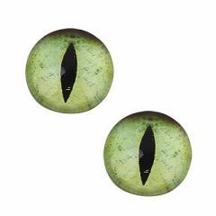 緑/猫目のマグネットピアス