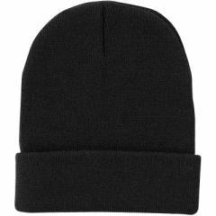 【51%OFF】ブラック/シンプルニット帽