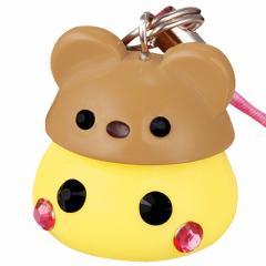 黄色/ブラウンクマ帽子ほっぺちゃんストラップ
