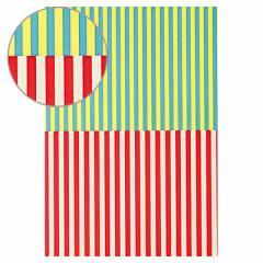 ☆夏の売り尽くしセール☆第一弾【50%OFF】黄色系&赤系ストライプ柄/デザインペーパー