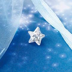 【通販限定】クリア/袋つき星型キュービックジルコニア