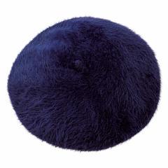 ネイビーラビットファーベレー帽