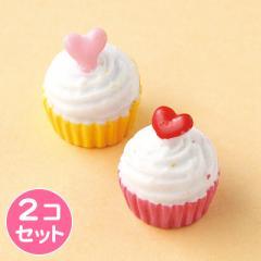 ピンク&黄色ミニタルトオブジェ2個セット