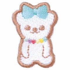 クッキー風クマさん/アイロンワッペン