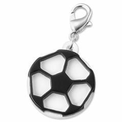 サッカーボールのジッパーチャーム