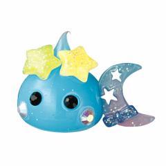 水色ラメ/ダブル星の月持デカほっぺちゃんオブジェ