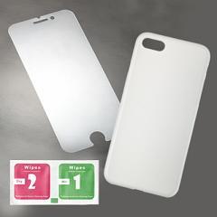 透明/iPhone7カバー&保護シールセット