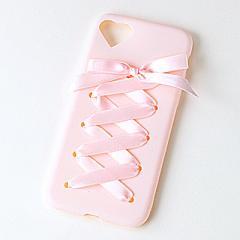 ピンク/レースアップiPhone7カバー