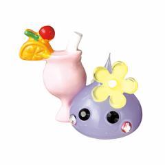 ラメ紫/ジュース持ちほっぺちゃんオブジェ