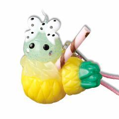 パインジュース/黄緑ほっぺちゃんストラップ