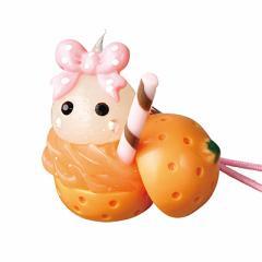 オレンジジュース/白ほっぺちゃんストラップ