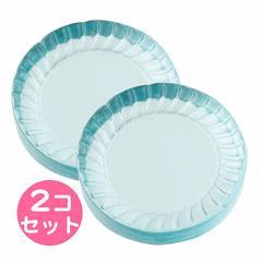 透明水色/お皿風ミニオブジェ/2個セット
