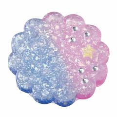 紫&青グラデ/お花型プレートオブジェ