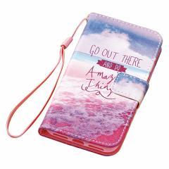 ピンク/海辺デザインiPhone7用カバー
