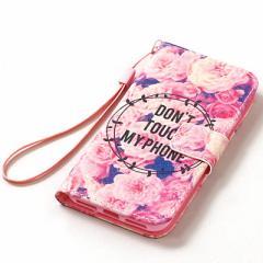 ピンク/バラ柄iPhone7用カバー
