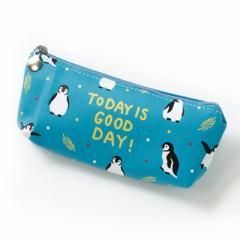 水色/ペンギンのペンポーチ