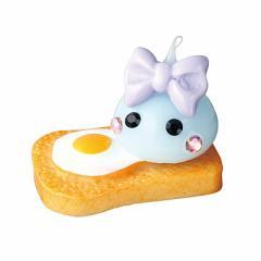 水色/目玉焼きトーストミニほっぺちゃんオブジェ