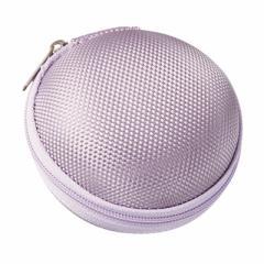 紫/イヤホンコードが綺麗に収納できるポーチ