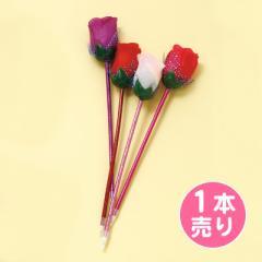 大きなバラがついたペン/1本売り