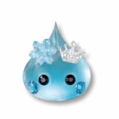 水色石/結晶付超透明デカほっぺちゃんオブジェ
