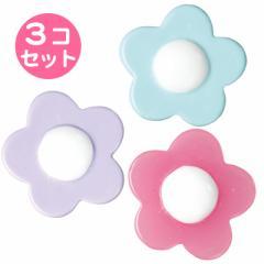パステル/お花型マグネット3個セット