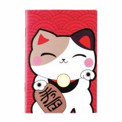 赤/招き猫のミニサイズノート