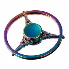 レインボー/エッフェル塔の円形ハンドスピナー