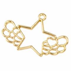 金色/レジン用リ羽つき星フレームパーツ