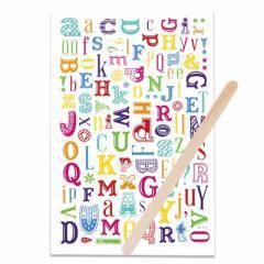 カラフル/オシャレアルファベットの転写シール