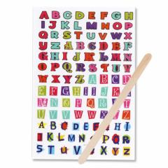 カラフル/いろいろアルファベットの転写シール