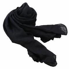 黒/シンプル無地の薄手日焼け対策ストール