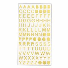 金色/ローマ字シール