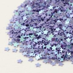 紫/星型スパンコール2g